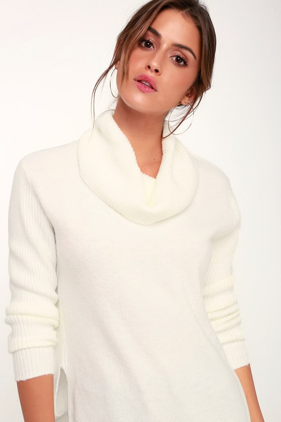 0027685525fc Olive + Oak Brant - Ivory Sweater - Ivory Cowl Neck Sweater