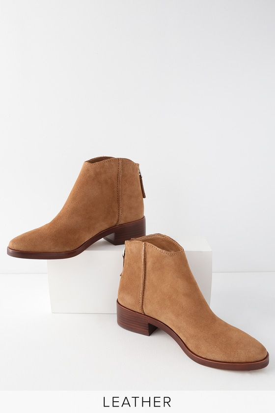 a9680a82ce8 Dolce Vita Tucker - Dark Saddle Suede Leather Ankle Booties