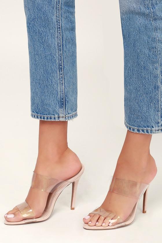 29e614d67b7fa Sexy Clear Heels - Heeled Sandals - PVC Heels - Vegan Heels