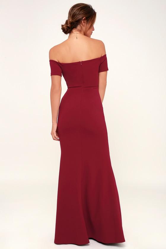 1b8639cca32 Stunning Maxi Dress - Burgundy Mermaid Dress - Burgundy Dress