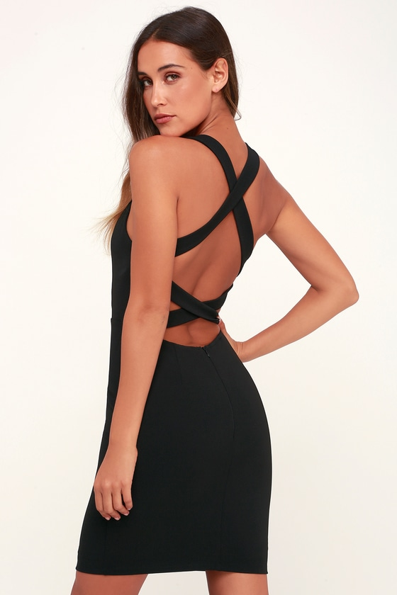 Sexy Black Dress - Bodycon Dress - Strappy Dress - LBD 437d5103a
