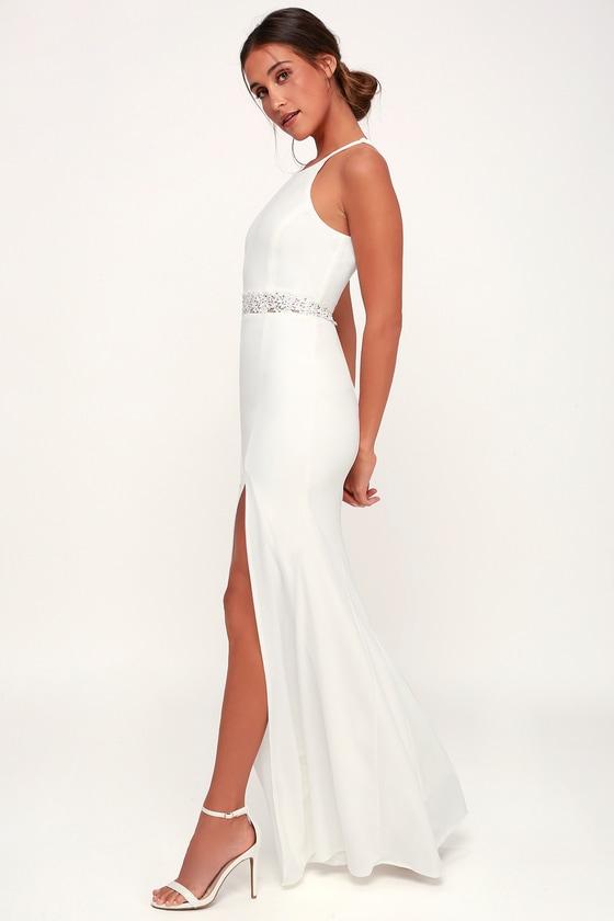 f9be135976e7 Sexy White Gown - White Maxi Dress - White Mermaid Maxi Dress
