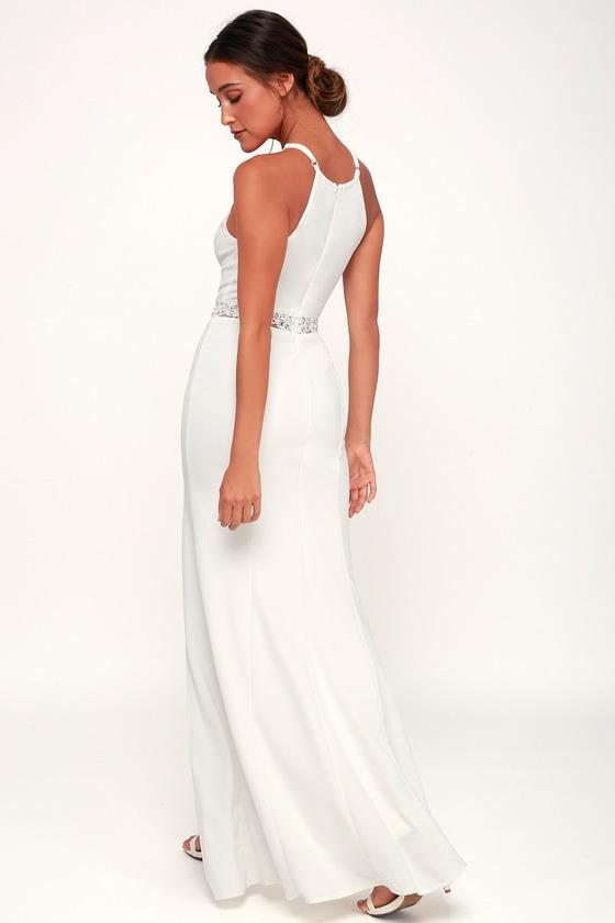 eb4f6e294f Sexy White Gown - White Maxi Dress - White Mermaid Maxi Dress