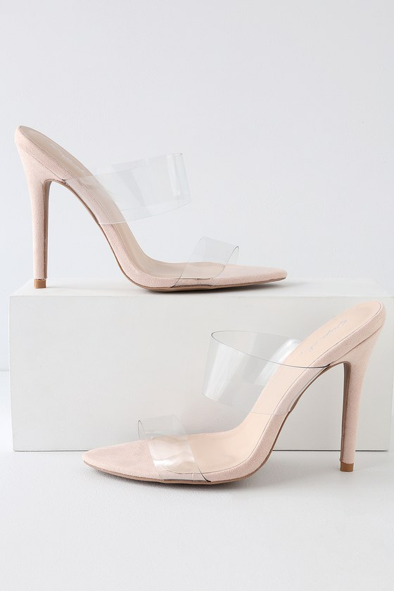 85338200ed2a Sexy Clear Heels - Heeled Sandals - PVC Heels - Vegan Heels