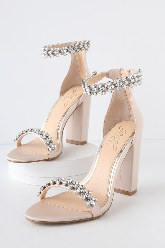 820196ab61e Jewel by Badgely Mischka Mayra - Champagne Satin Heels - Heels