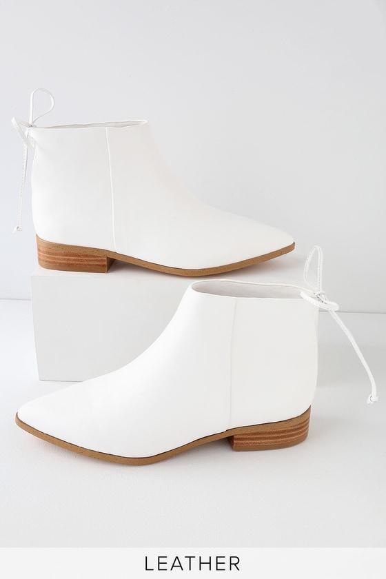 White Booties - Pointed Toe Booties - Lulus