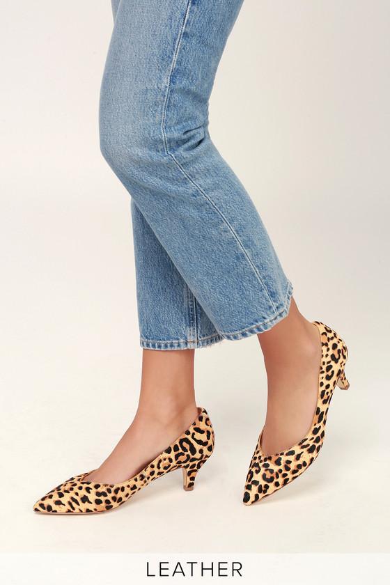 leopard low heel pumps hot cea6c 35ff3