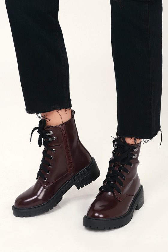 Madden Girl Alicee - Burgundy Lace-Up