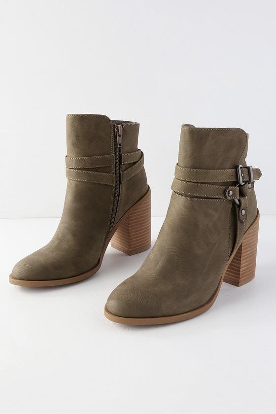 686bdecd3c Madden Girl Evilin - Stone Ankle Booties - High Heel Booties