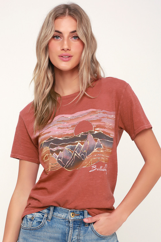 5b3ca412 Billabong Be A Tourist - Rust Red Graphic Tee - Graphic T-Shirt