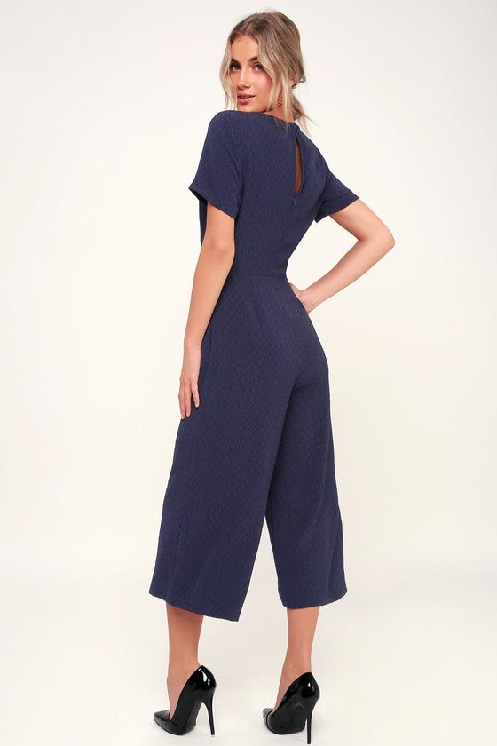 65f5fe907e37 Lulus x LUSH Jumpsuit - Navy Blue Jumpsuit - Culotte Jumpsuit