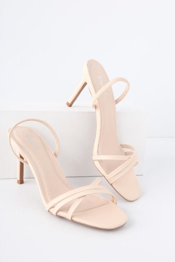 Cute Nude Heels - Slingback Heels