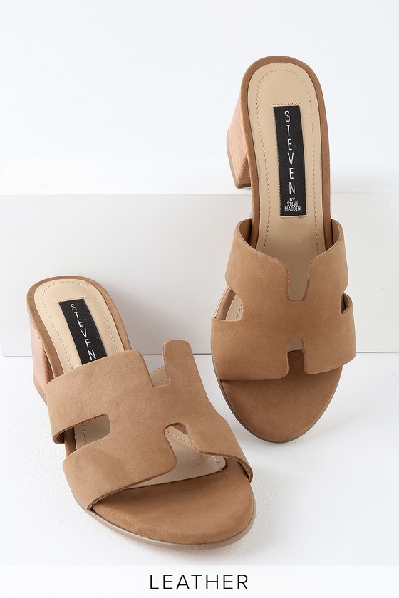 246362f457a Steven by Steve Madden Foreva - Leather Mules - Brown Sandals