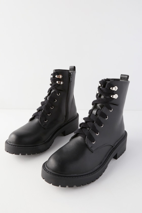 7f1d4b55a7ceb0 Madden Girl Alicee - Black Boots - Lace-Up Boots - Combat Boots