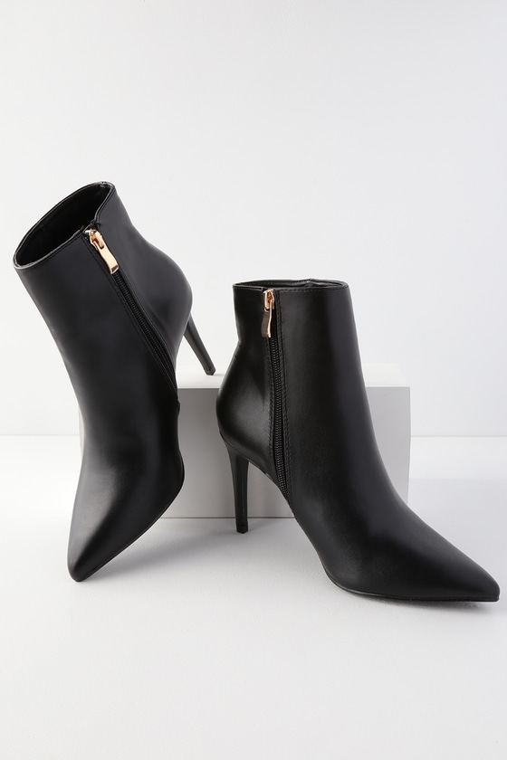 3a8787e2aeb8 Chic Black Booties - Stiletto Heel Booties - Ankle Booties