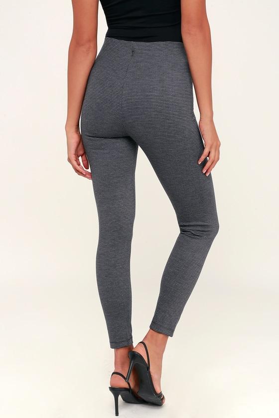 1b4ca595 Castello Dark Grey Houndstooth High-Waisted Skinny Pants