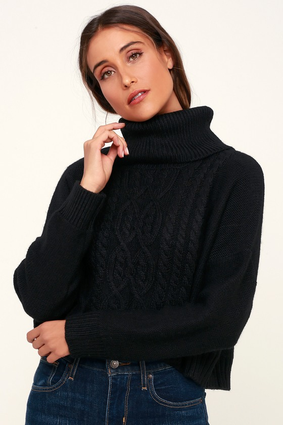 031d4ea79b Jack By BB Dakota Say Anything - Black Sweater - Knit Sweater