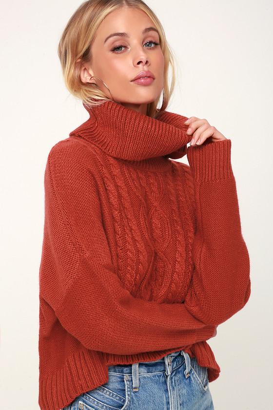 Jack By BB Dakota Say Anything - Burnt Orange Sweater - Sweater d9c118f2c