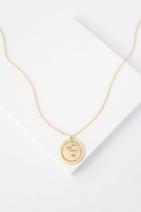 48b2f6a1b1c Cute Gold Necklace - Gold Pendant Necklace - Boho Necklace