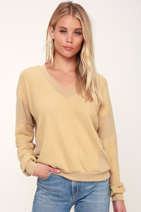 99b8096751635 Project Social T Alsen - Light Yellow Sweater - Cozy Sweater Top