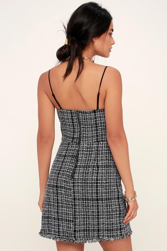 e4ccfd071 Cute Black and White Dress - Tweed Dress - Mini Dress - Dress