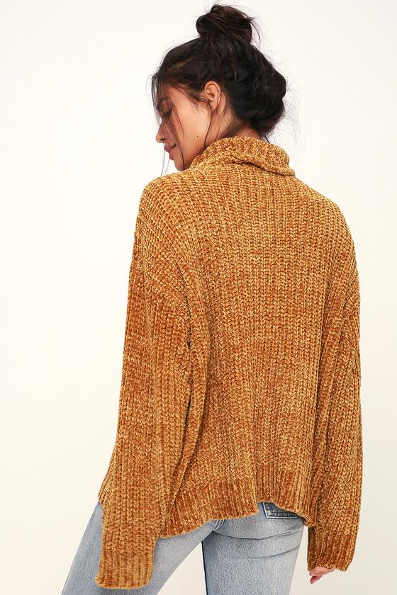 Lost Wander Golden Child Yellow Sweater Turtleneck Sweater