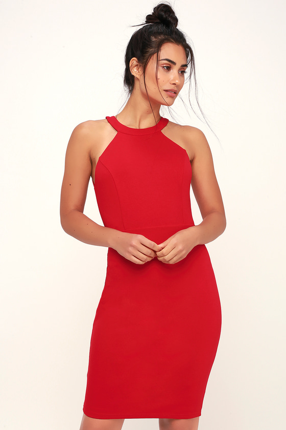 99076d6cee Sexy Red Dress - Red Bodycon Dress - Red Backless Dress
