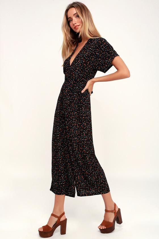 9e59c686049 Faithfull the Brand Alena Jumpsuit - Black Floral Jumpsuit