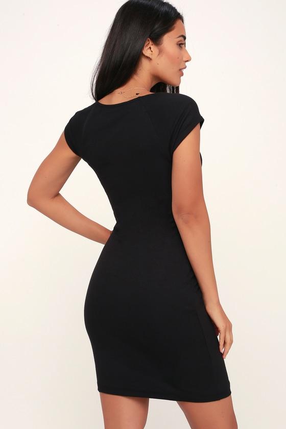 b134cd4521d Cute Little Black Dress - Ribbed Mini Dress - Black Bodycon Dress