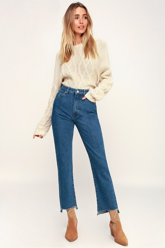 f3cdc3328a7 Rolla's Original Straight - High Rise Jeans - Blue Jeans