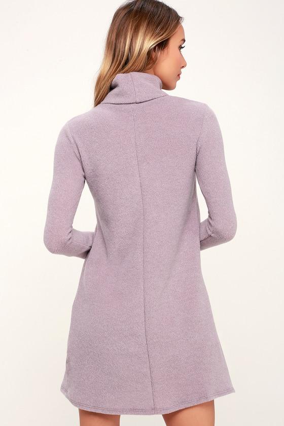 Cute Turtleneck Dress Sleeve Sweater Long WEH29DI