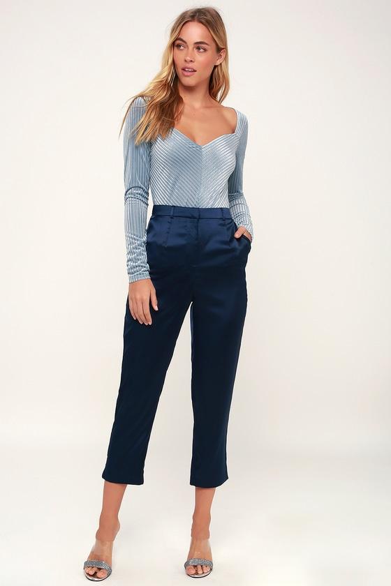 606e8c8b859cd Sexy Light Blue Bodysuit - Velvet Bodysuit - Long Sleeve Bodysuit