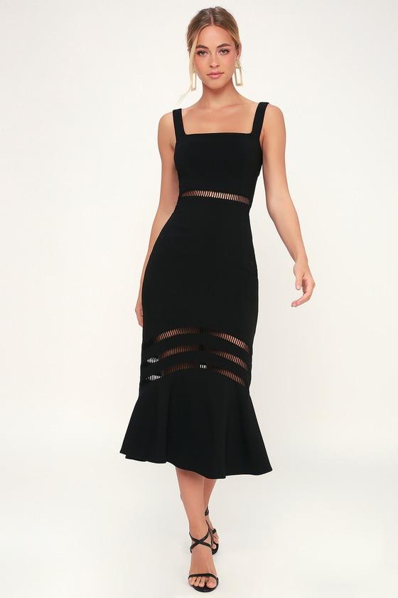 Finders Keepers Sangria - Black Dress - Midi Dress - Dress 39cf455c5