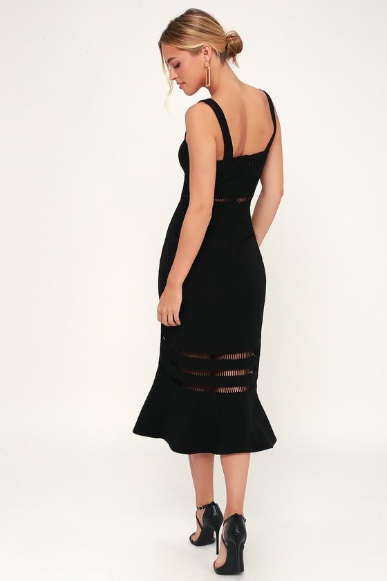 4488126583 Finders Keepers Sangria - Black Dress - Midi Dress - Dress