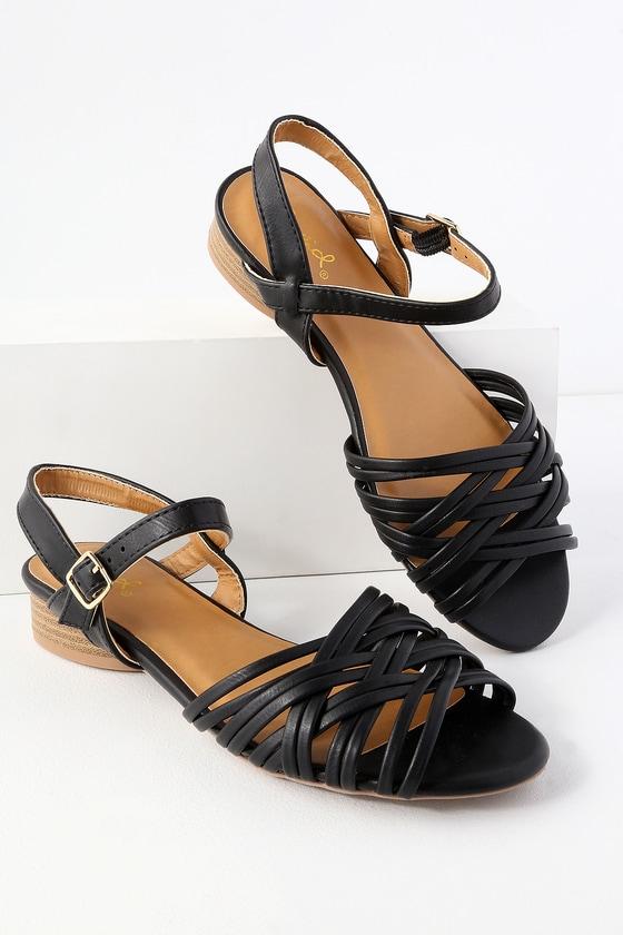 95e67f0a9 Cute Vegan Sandals - Strappy Sandals - Back Sandals