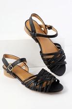 dd1d63124454b Steve Madden Diego - Black Gladiator Sandals - Suede Sandals