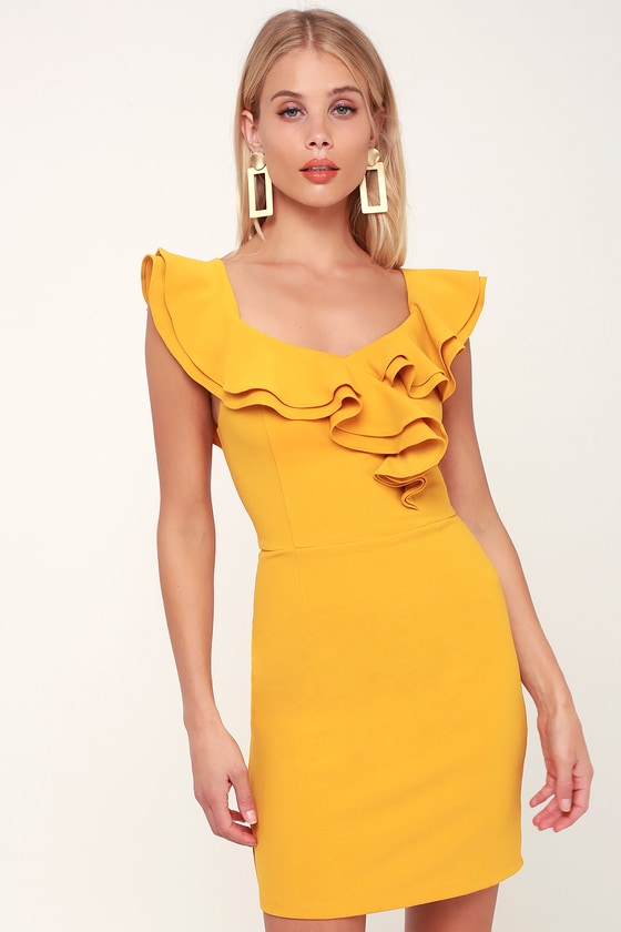 River island ruffle axis x with dress bottom bodycon town lines
