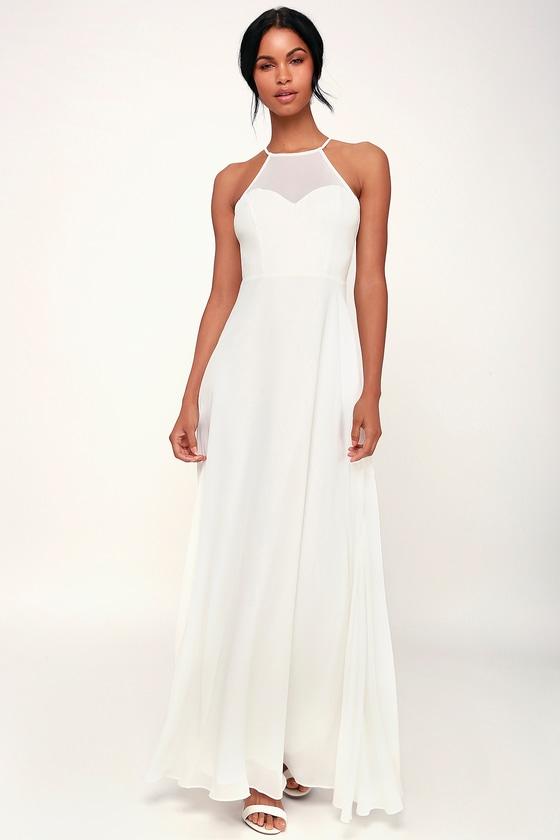 cf8c1fcbda5e4d Glam White Maxi Dress - Sweetheart Maxi Dress - White Gown