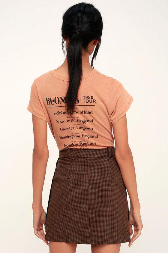 513a0f4a6a Classic Brown Skirt - Houndstooth Skirt - Mini Skirt - Cute Skirt