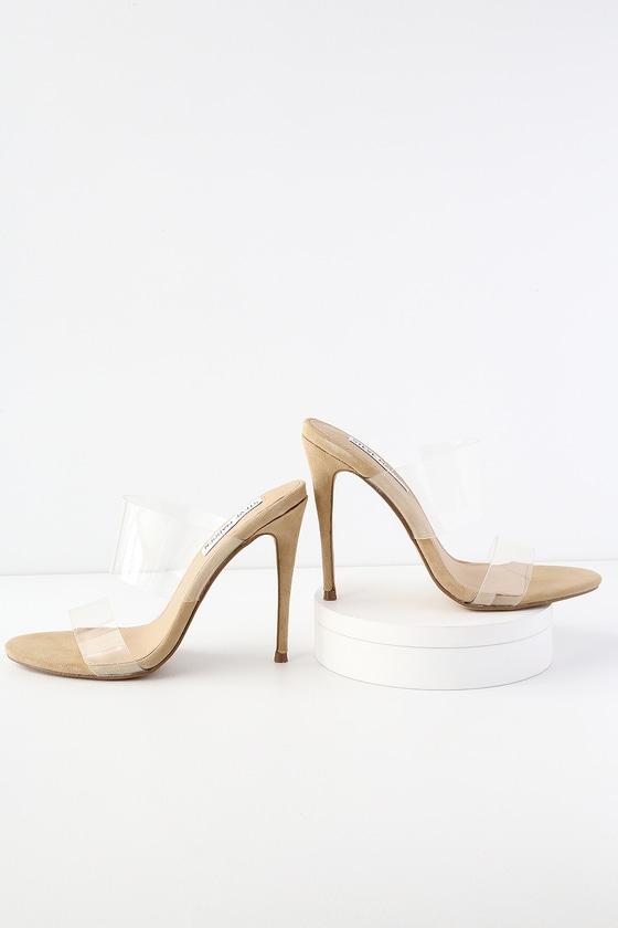 ff74619f077a Steve Madden Charlee - Clear Vinyl Sandals - High Heel Sandals