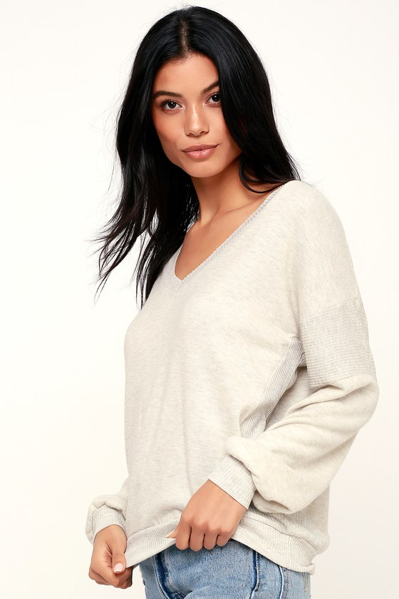 a56f0124c Project Social T Alsen - Light Beige Sweater - Cozy Sweater Top