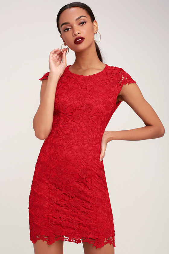 f5c91e6d53eb Chic Red Lace Dress - Backless Lace Dress - Backless Dress