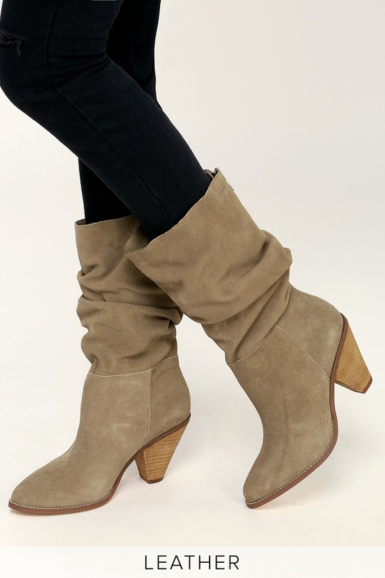 4cdb285b6e Chinese Laundry Stella - Genuine Suede Boots - Slouchy Boots