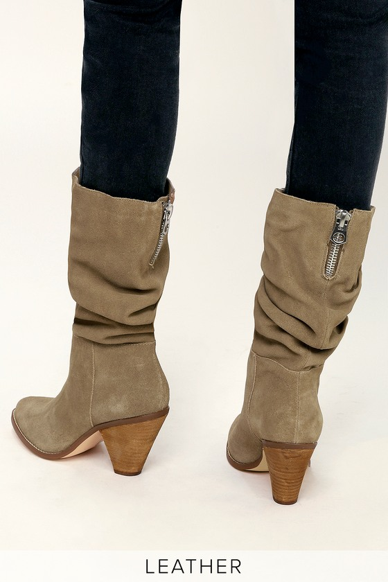Chinese Laundry Stella - Genuine Suede Boots - Slouchy Boots 6cc147b21f10