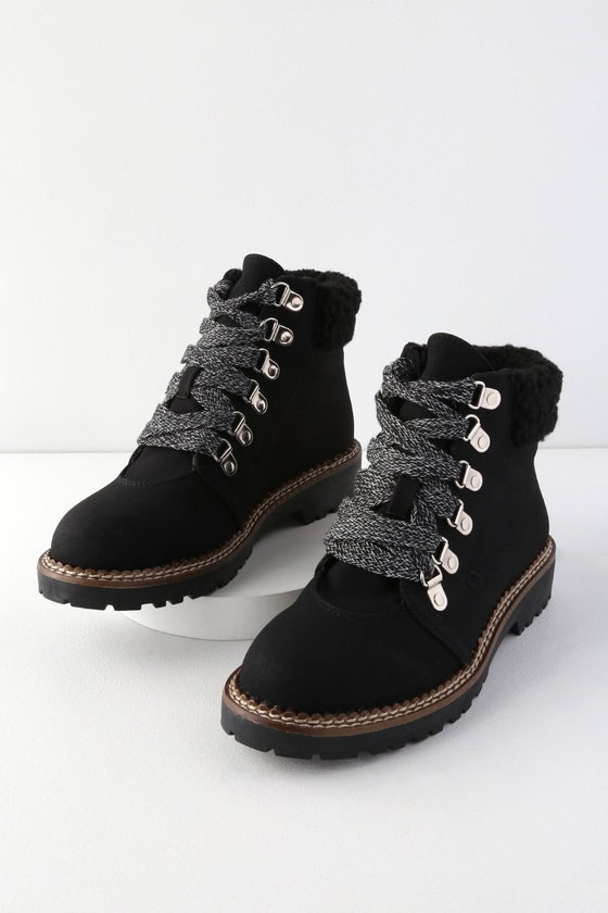 6b930b33b4 Dirty Laundry Casbah - Black Ankle Boots - Lace-Up Boots - Boots