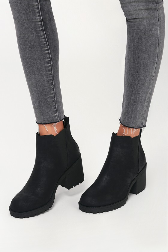 Heel Ankle Booties Black High Lisbon IbfgmYy6v7