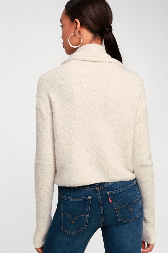 efeaeee521b Free People Stormy - Cream Cowl Neck Sweater - Sweater Top