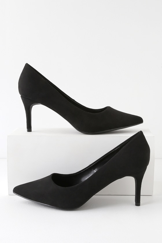 Cassidy Black Suede Pumps