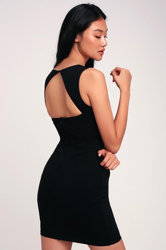 3ee6020f516 Flirty Little Black Dress - Bodycon Dress - Square Neck Dress