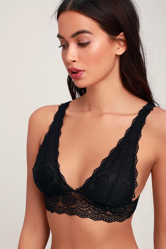 13b5483baf5f6 Sexy Black Bralette - Lace Bralette - Black Lace Bralette